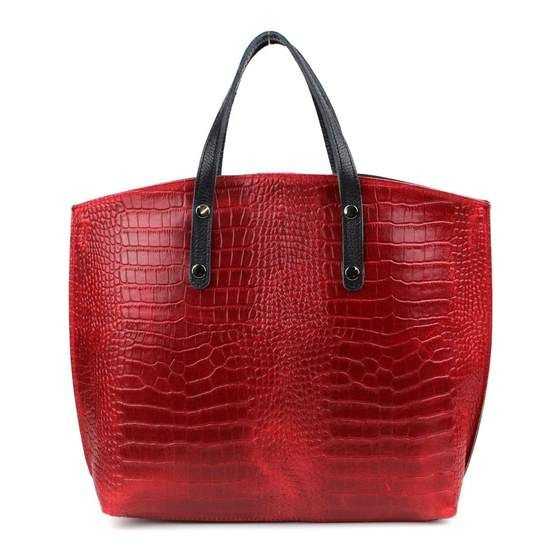 Photo of OBC Made in Italy echt Leder DIN-A4 Business Aktentasche Tasche Schult TSC0225-RED