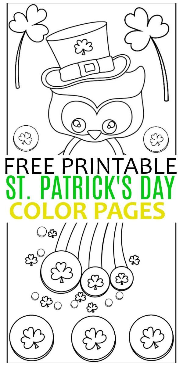 These Free Printables St Patrick S Day Color Pages Are Fun For