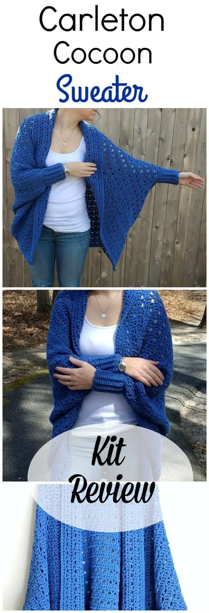 ffb2b3a5fc67e6 Carleton Cocoon Sweater Kit from Craftsy - A Review by