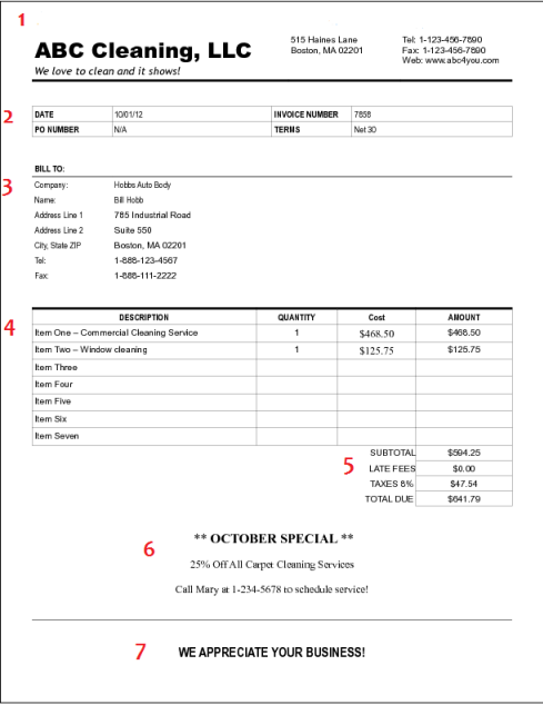 Example Of Invoice How To Create A Cleaning Invoice For Your Business  Suji .