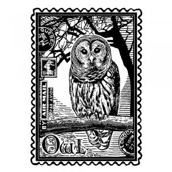 Airmail Owl Art Rubber Stamp 60mm X 80mm Crafty Individuals From Crafty Individuals Uk Owl Art Owl Art