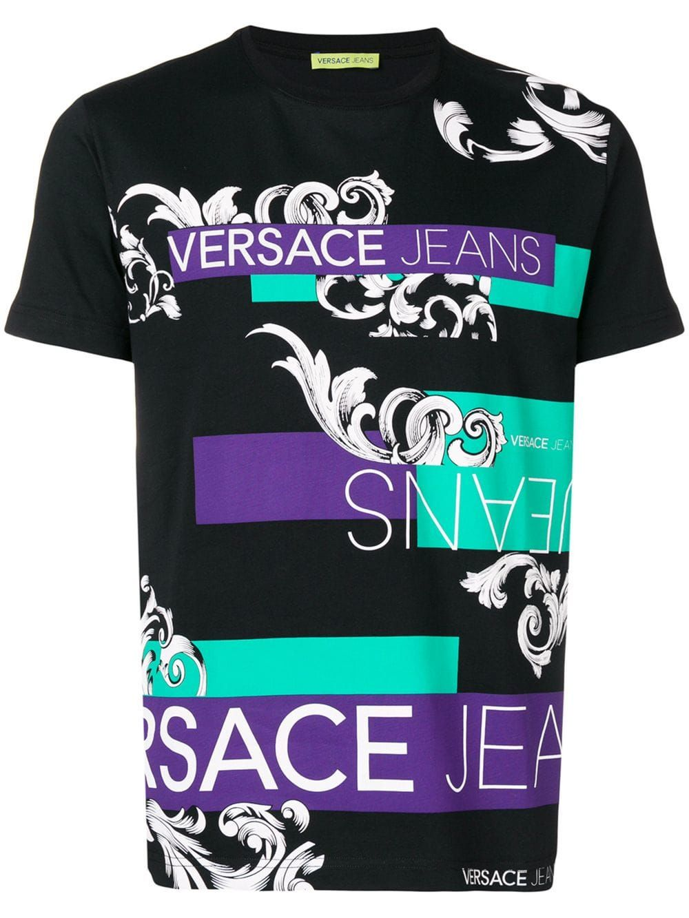 Graphic Print T Shirt In Black Versace Jeans Mens Fashion Online Mens Smart Casual Outfits