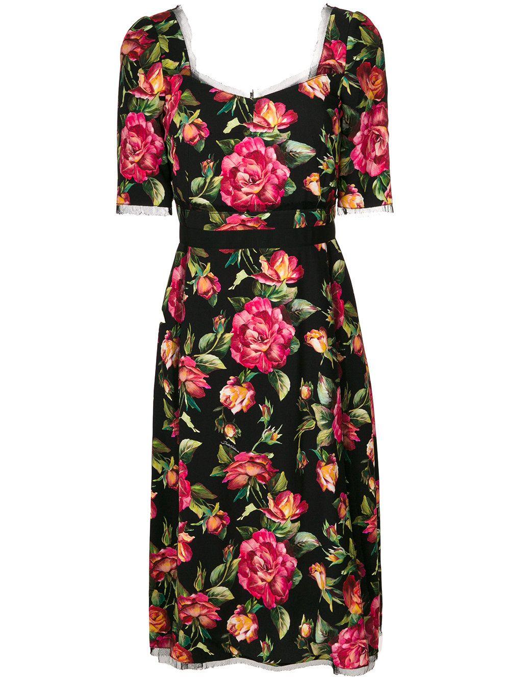 Dolce   Gabbana Robe Mi-longue à Fleurs   Dolce gabbana, Mi long et ... 9ca8f0b0406f