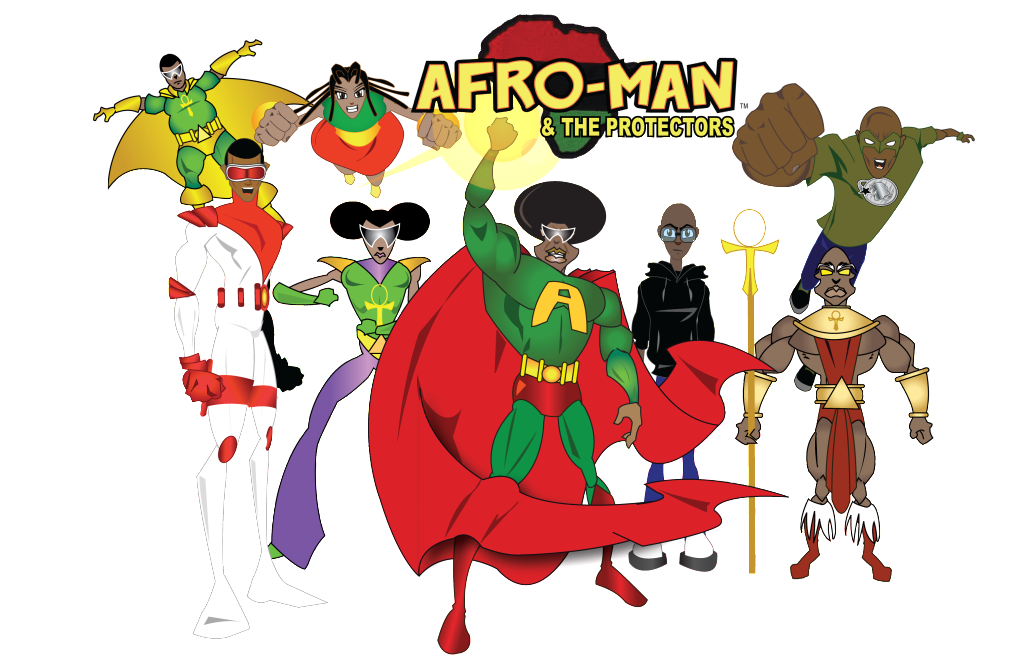 afroman kids space - create your super hero/nick name, select your