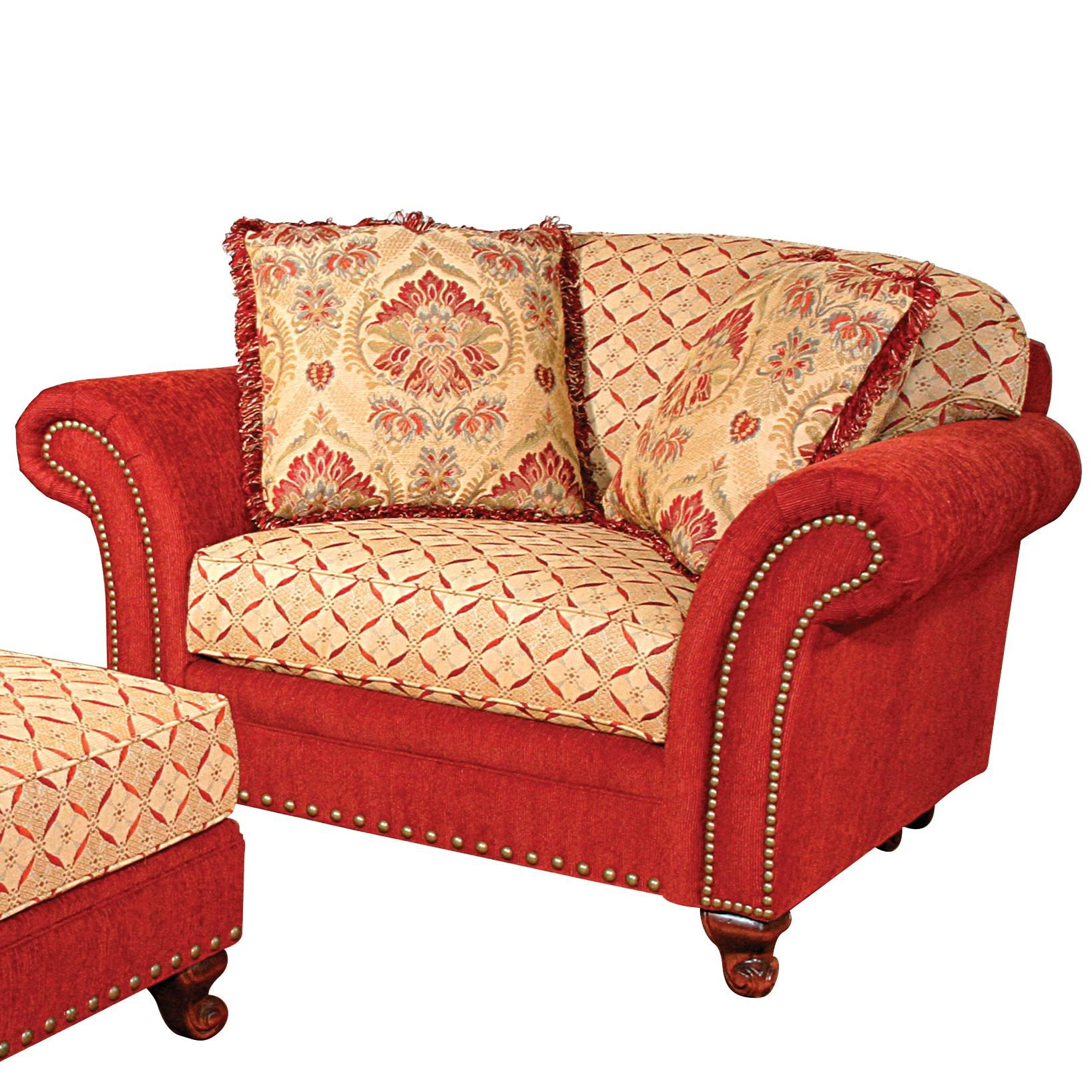 Katherine Chair and a Half by King Hickory Chair and a