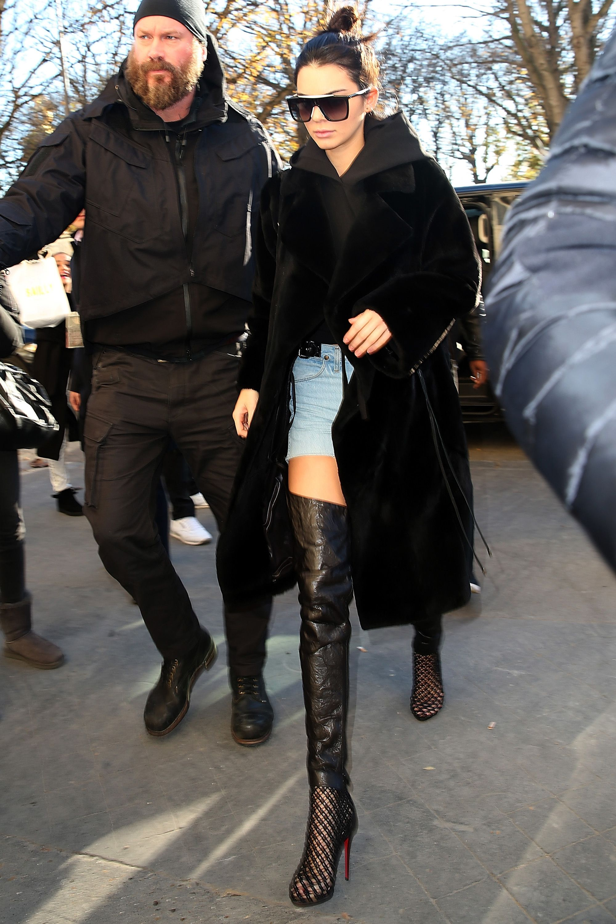 Kendall Jenner wears orange turtleneck and leather pants Kendall Jenner wears orange turtleneck and leather pants new images