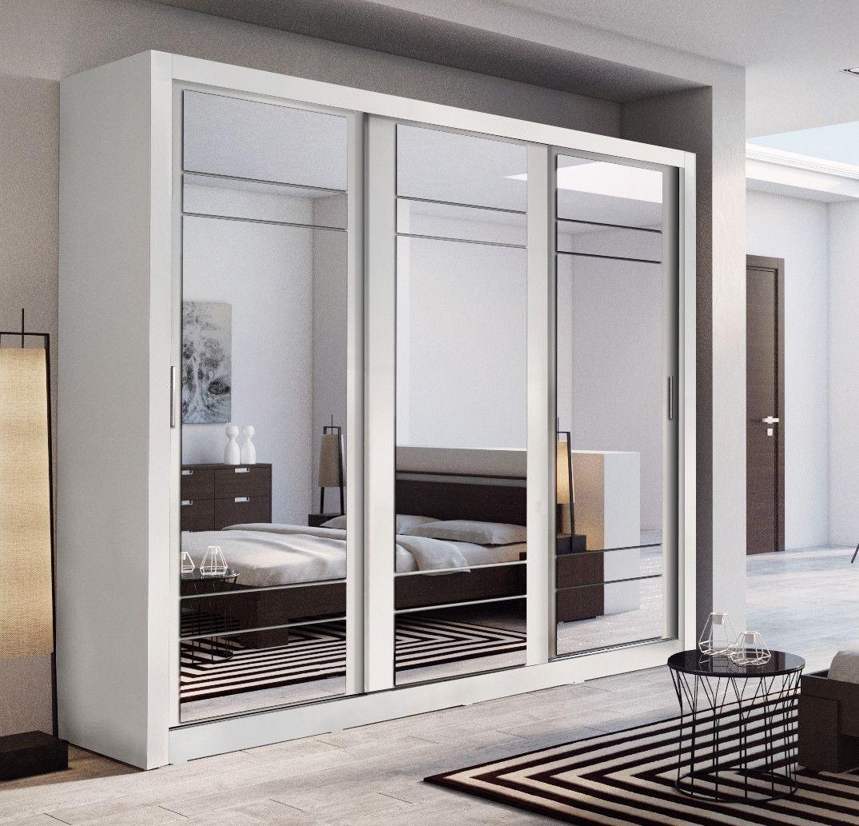 Arti 2 White 3 Sliding Door Wardrobe 250cm Arti Wardrobe Range