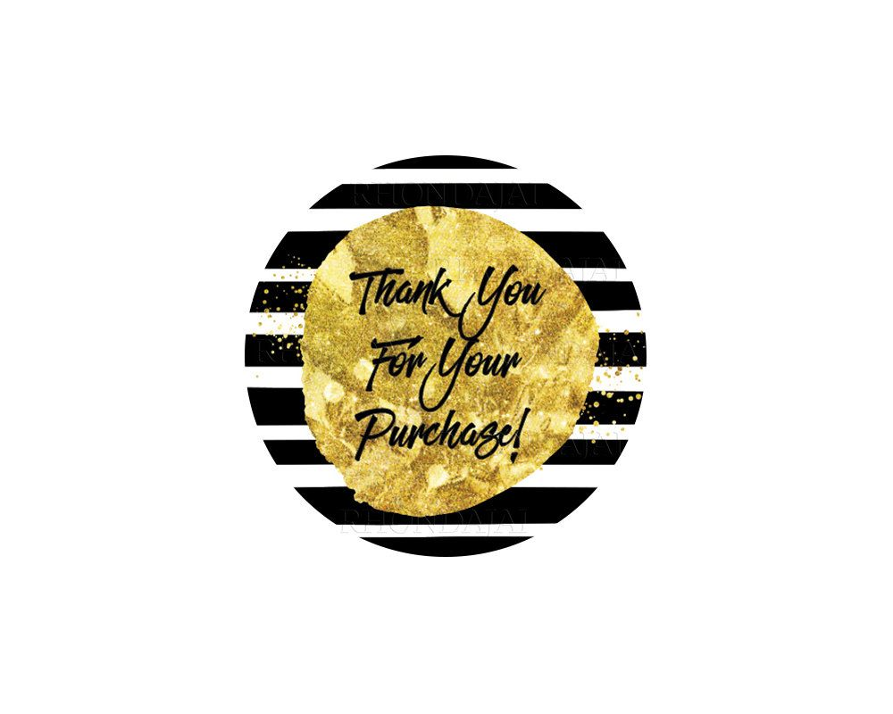 Thank You Stickers Printable Sticker Thank You For Your Purchase Sticker Thank You For Your Order Printable Stickers Thank You Stickers Printable Labels