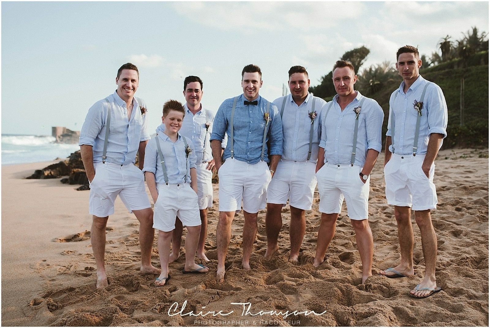 Groom Groomsmen Outfits Shorts Beachwedding With Images