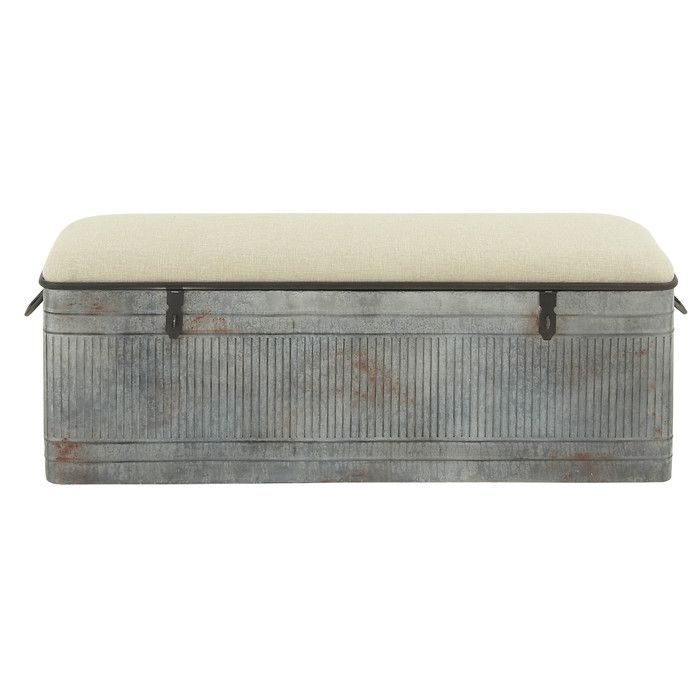You'll love the Metal Entryway Storage Bench at Wayfair - Great Deals on all Furniture products with Free Shipping on most stuff, even the big stuff.