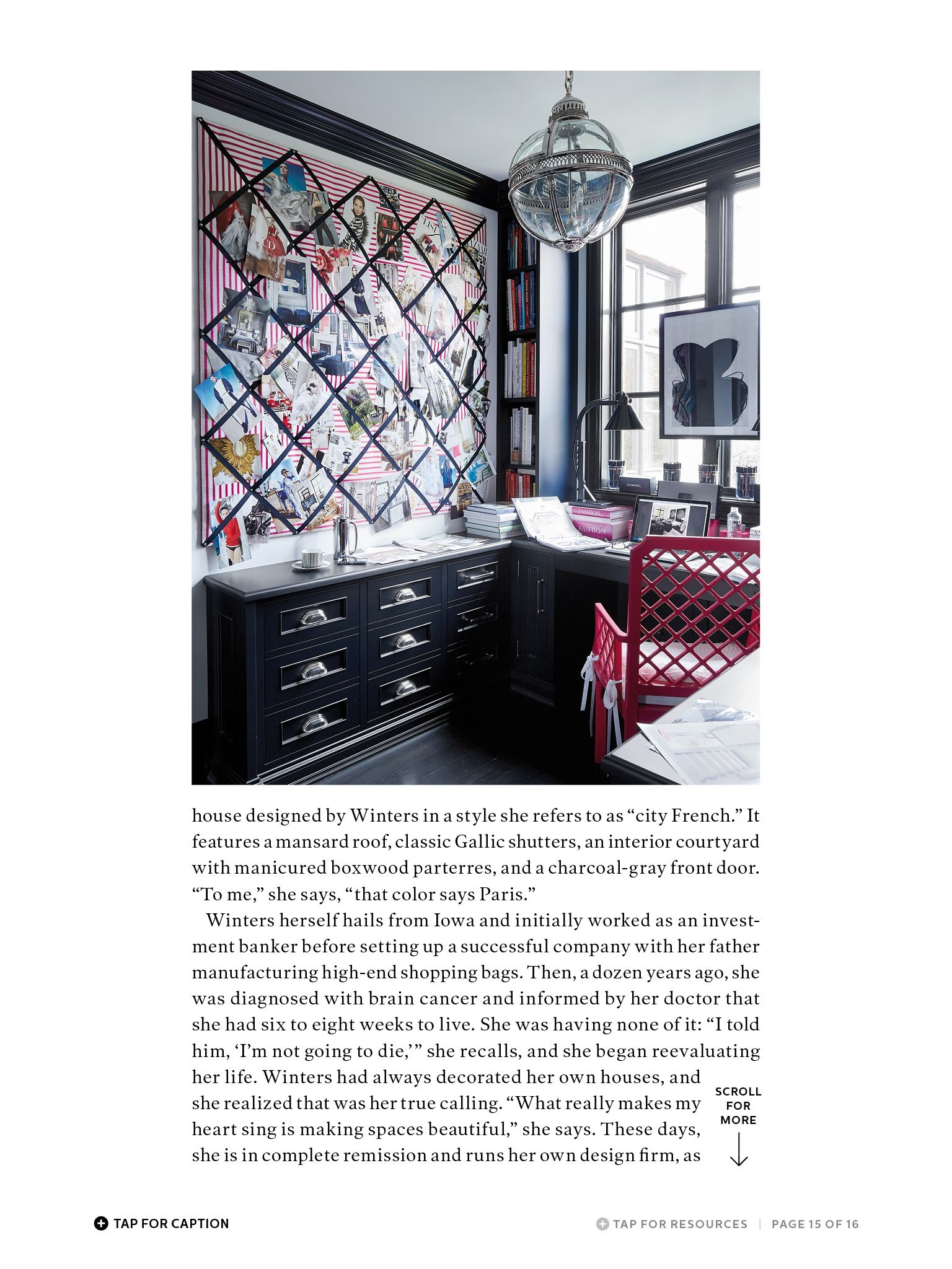 I saw this in the May 2015 issue of @ELLEDECOR.   http://bit.ly/1pTydyx