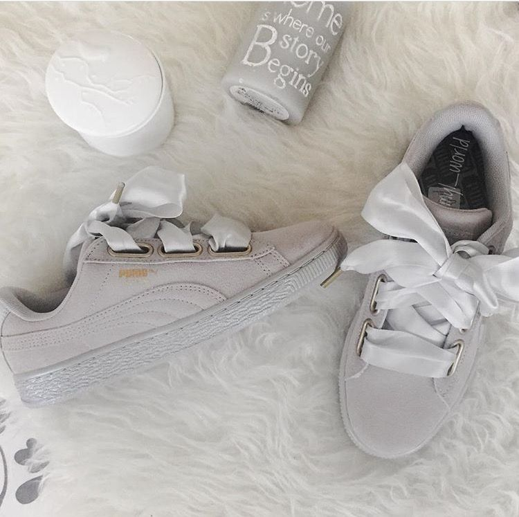 huge selection of 7ae55 1efb4 Puma heart suede grey Pumaheart In love Sneakers addict ...