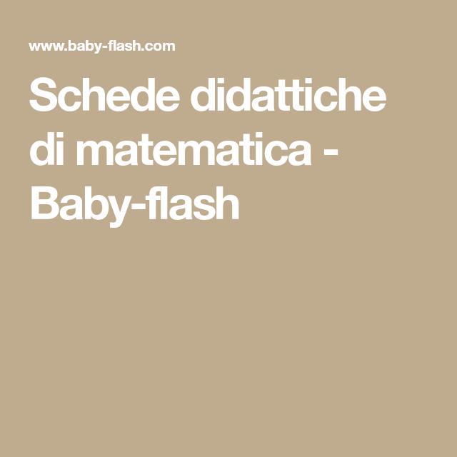 Schede didattiche di matematica - Baby-flash | Schede ...