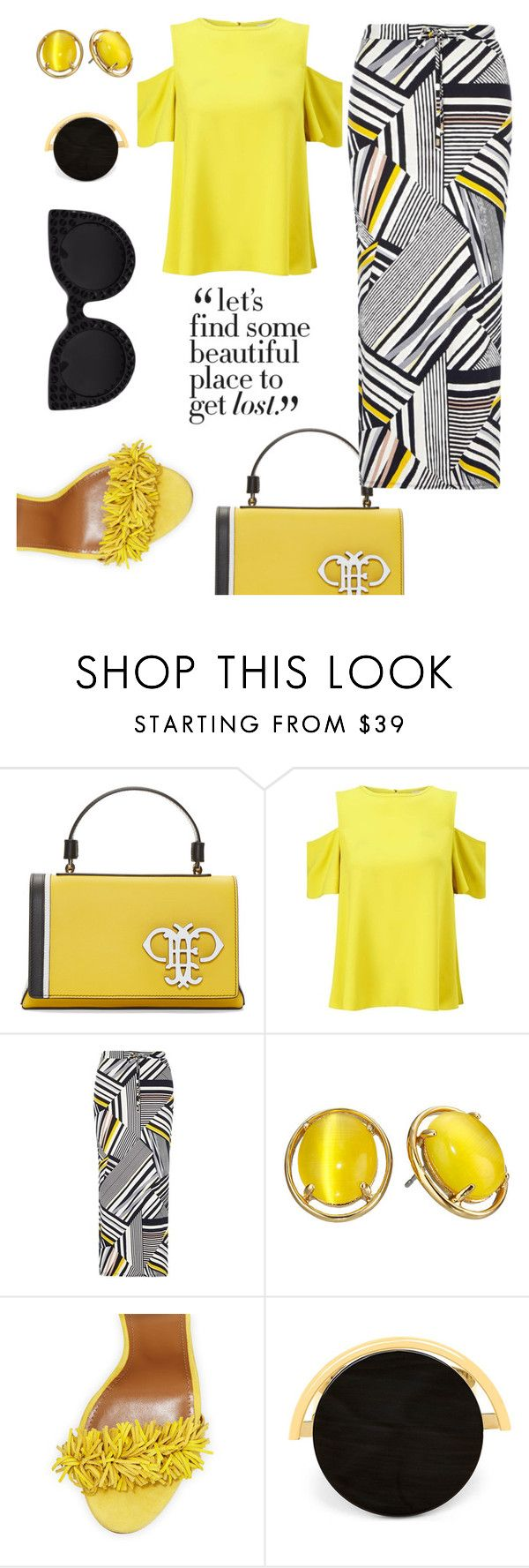 """""""Loving Clothes!"""" by gatocat ❤ liked on Polyvore featuring Emilio Pucci, Miss Selfridge, Dorothy Perkins, Kate Spade, Aquazzura and Marni"""