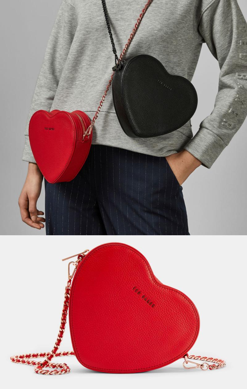 c8316e3539c2 Heart leather cross body bag - Red   Bags   Ted Baker   Handbag ...