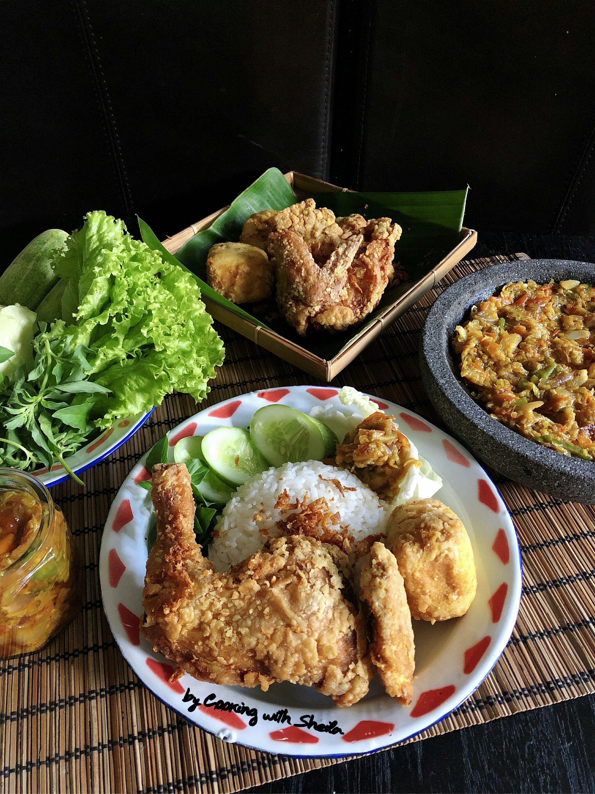 Pecel Ayam Crispy Cooking With Sheila Di 2021 Resep Makanan Sehat Memasak Makanan Sehat