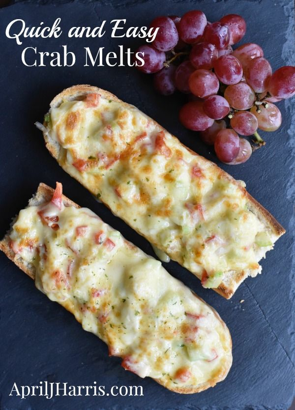 Quick And Easy Crab Melts An Delicious Appetizer Or Light Meal Recipe Crab Recipes Recipes Crab Dishes