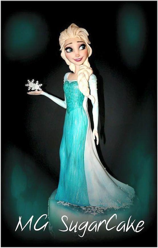 Le Torte Con Le Principesse Disney Di Mg Sugarcake Frozen