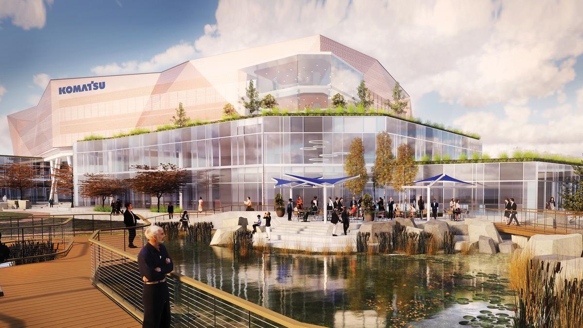 Komatsu to build 285M HQ on Milwaukee harbor Milwaukee