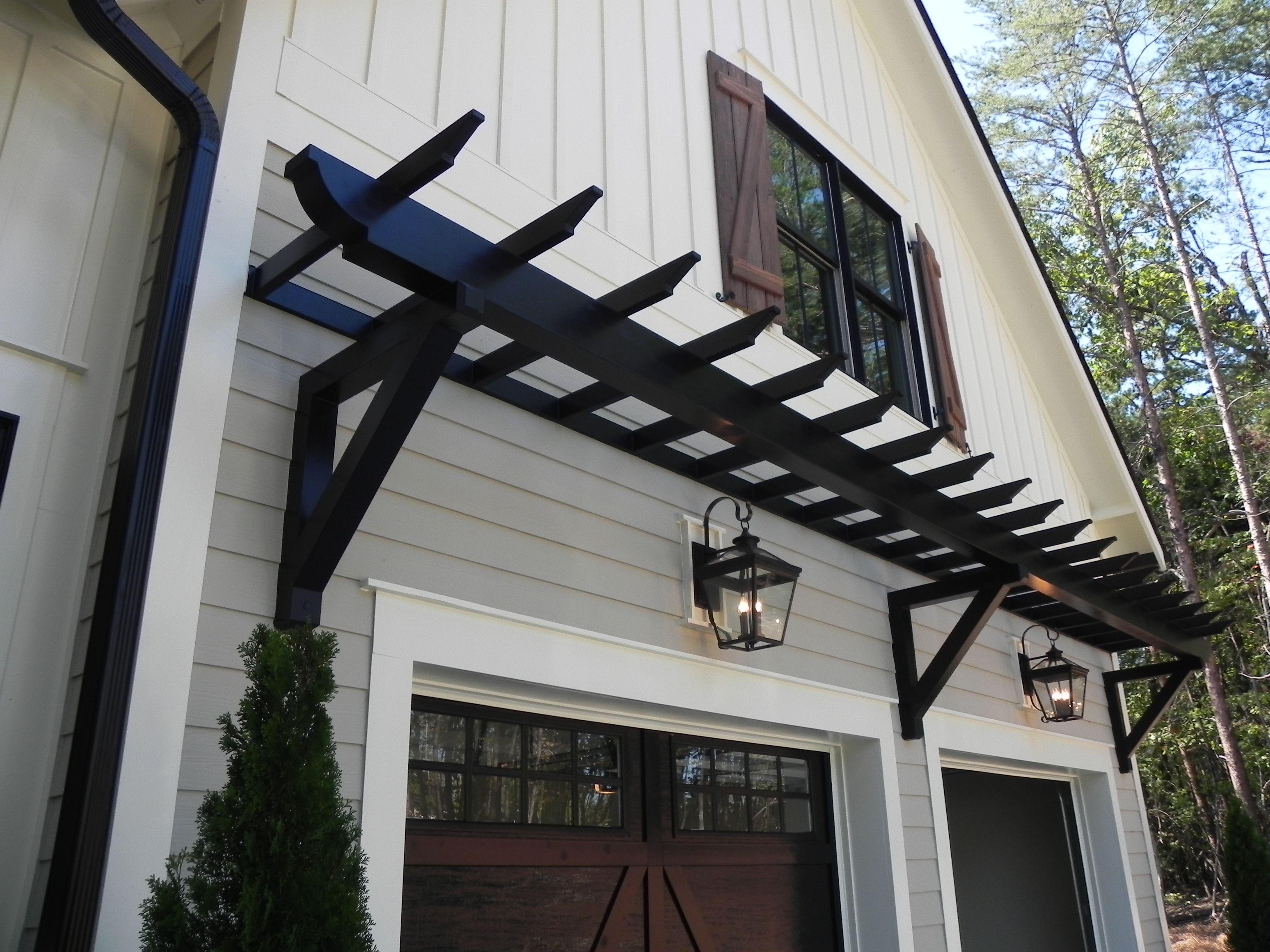 Pvc Trellis Home Ideas Garage Pergola Garage Trellis ...