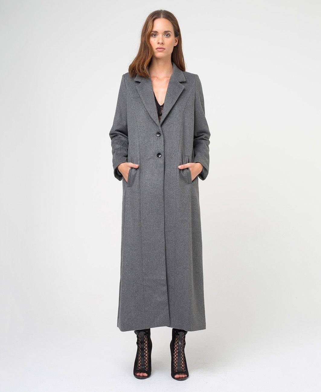 PROGRESSION COAT - GREY - Outerwear - Clothing - Womens