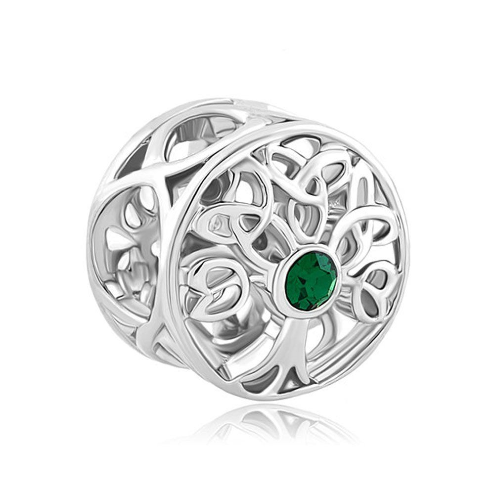 Family Tree Of Life Infinity Green Crystal Celtic Knot Bead Fits ...