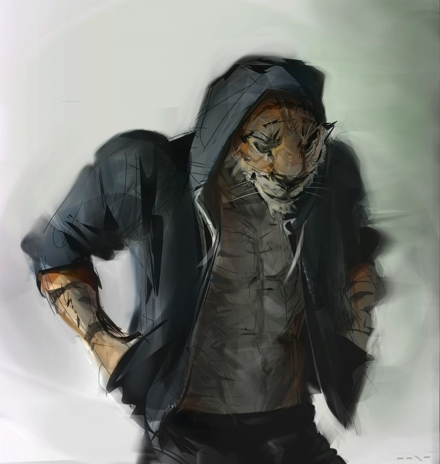 Photo of Tiger Boyfriend, an art print by Jonathan Vair Duncan