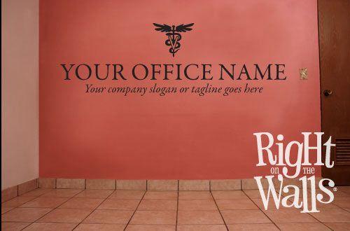 Veterinarian business name wall decal decor custom