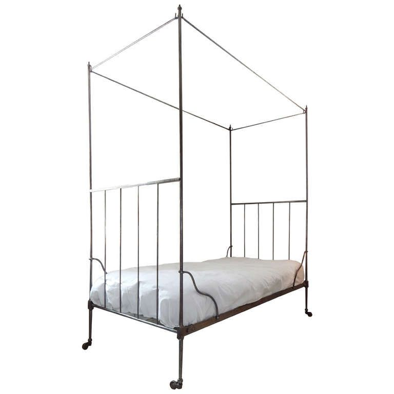 French Iron Canopy Bed From A Unique Collection Of Antique And