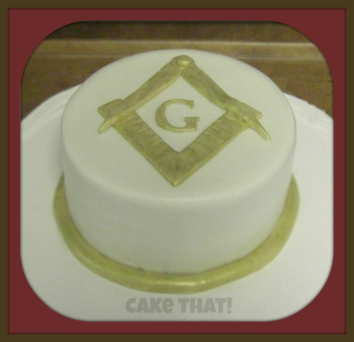 Freemason Cake For New Master Of The Lodge Chocolate With Dulche De