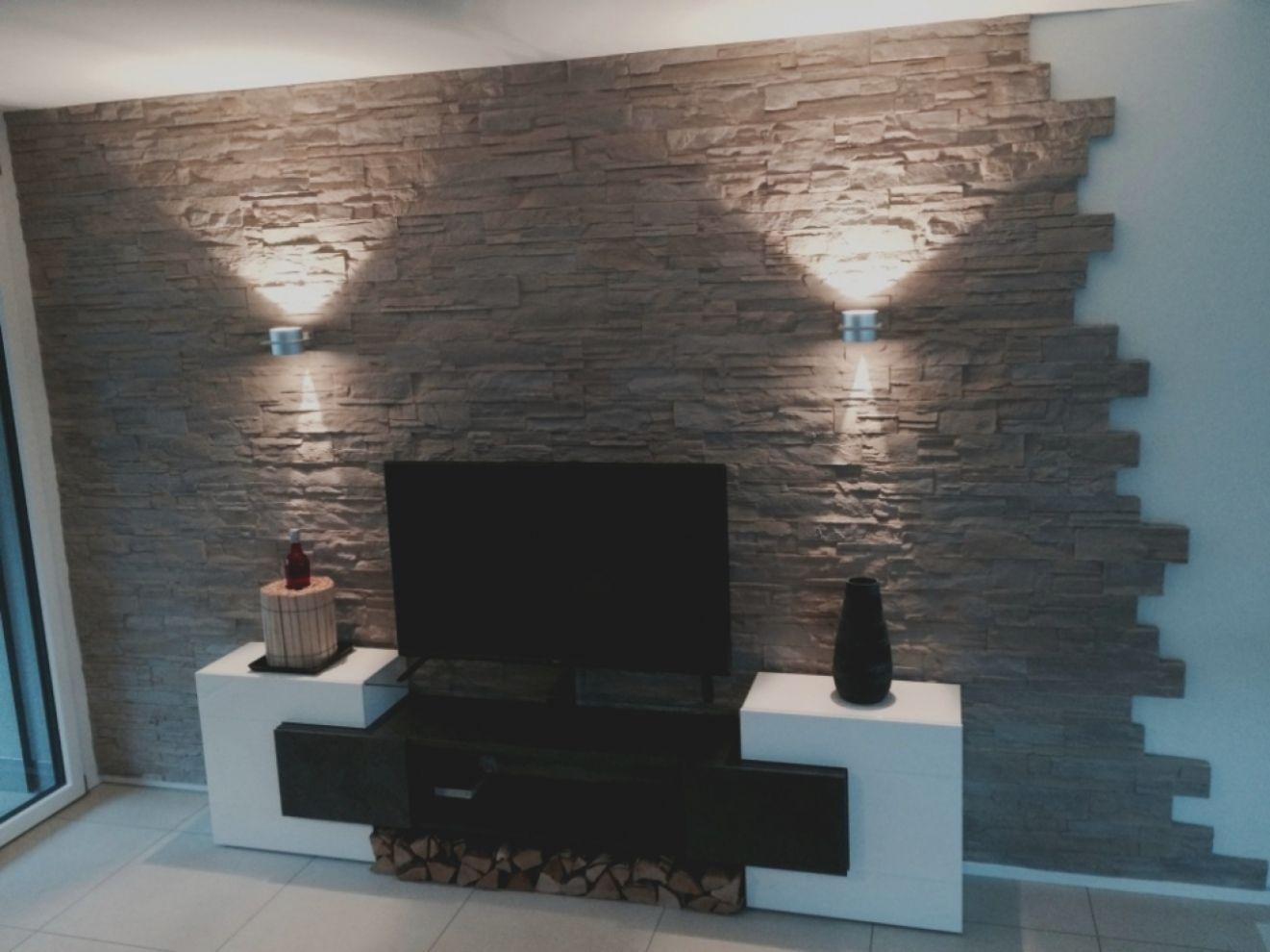 Wohnideen Tapeten Ideen Steinwand Wohnzimmer Stilvolle Wohnzimmer Wandgestaltung Wohnzimmer