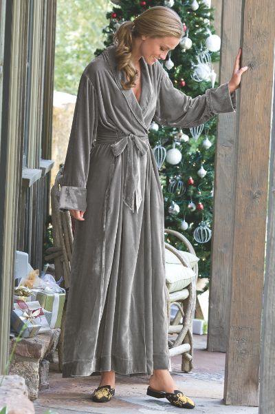 in yards of shimmering velvet, our silk velvet robe i makes a