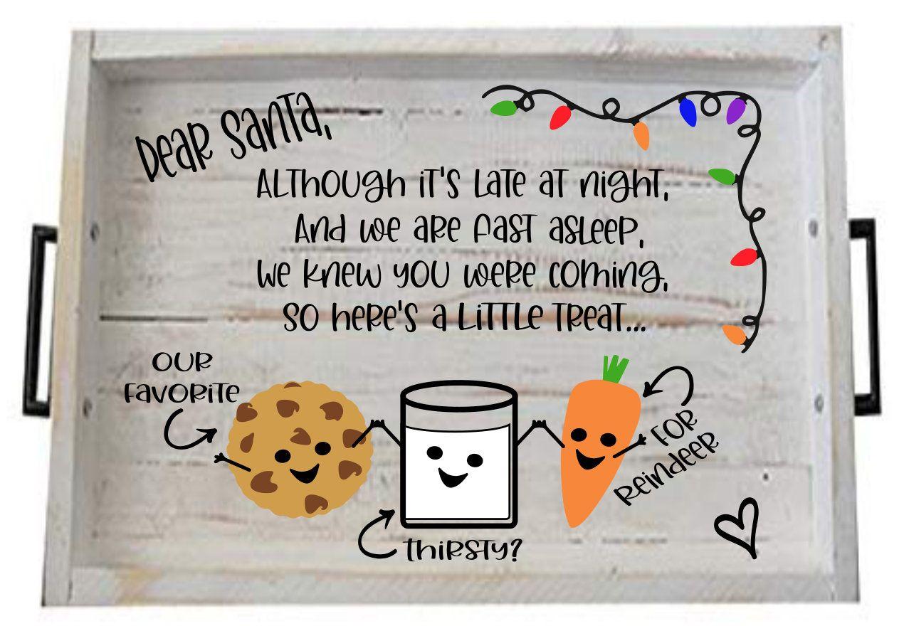 Santa Tray Svg Christmas Eve Tray Santa Tray Color Santa Etsy In 2020 Christmas Tray Christmas Poems Milk Cookies