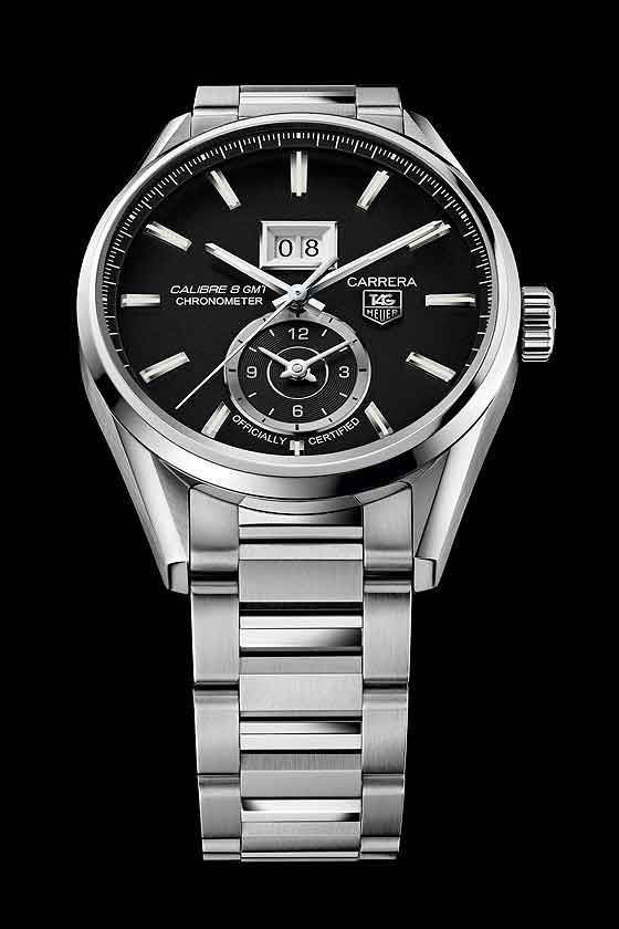 Close-Up: TAG Heuer Carrera with GMT and Big Date ...