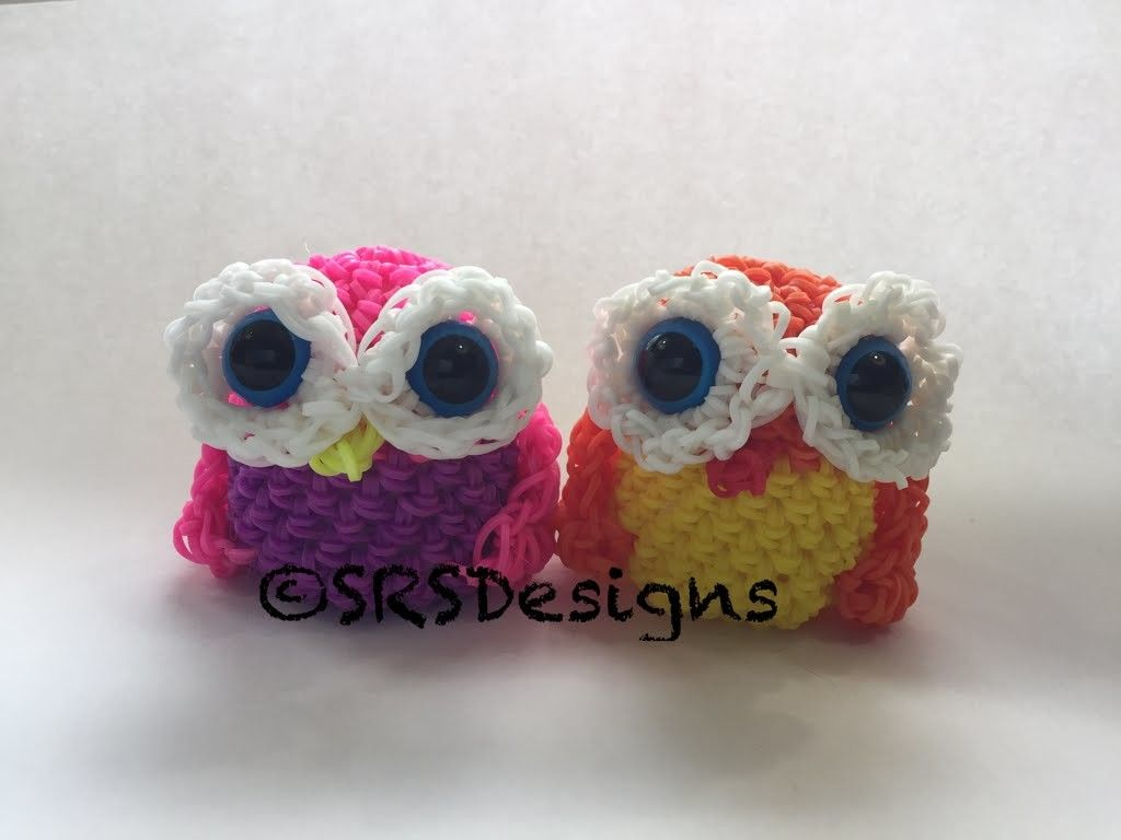 Amigurumi Loom Patterns : Owl tutorial rainbow loom loomigurumi.amigurumi hook only rainbow