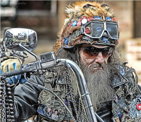 Can't get much more metal thank a Viking biker | Rat bike, Biker, Old bikes