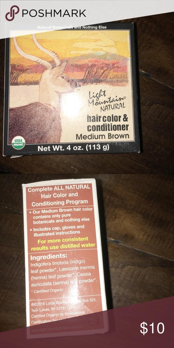 Light Mountain Medium Brown Henna Hair Coloring Nwt Light Hair Color Henna Hair Henna Hair Color