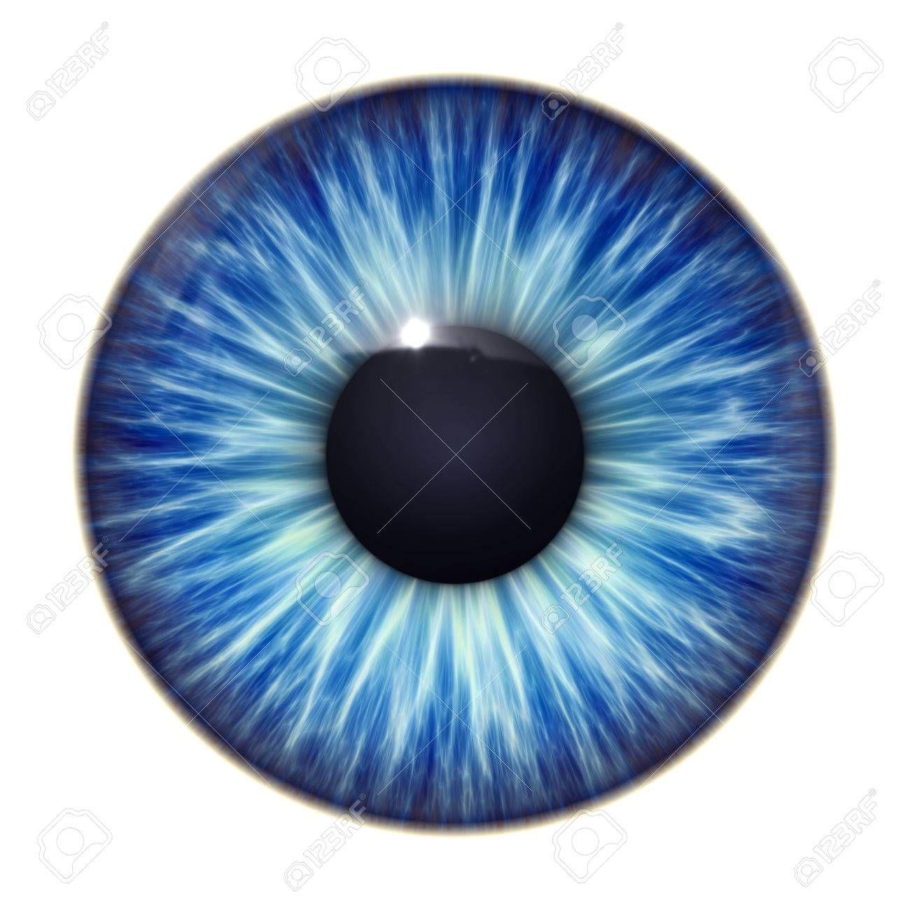 Una imagen de una textura agradable ojos azules Foto de archivo ...