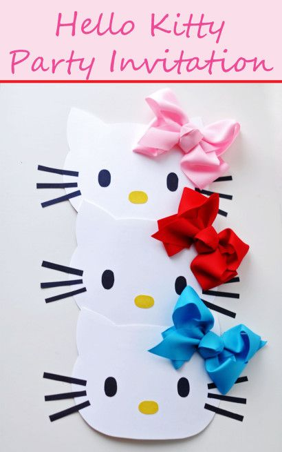 DIY Hello Kitty Invitation : play learn love
