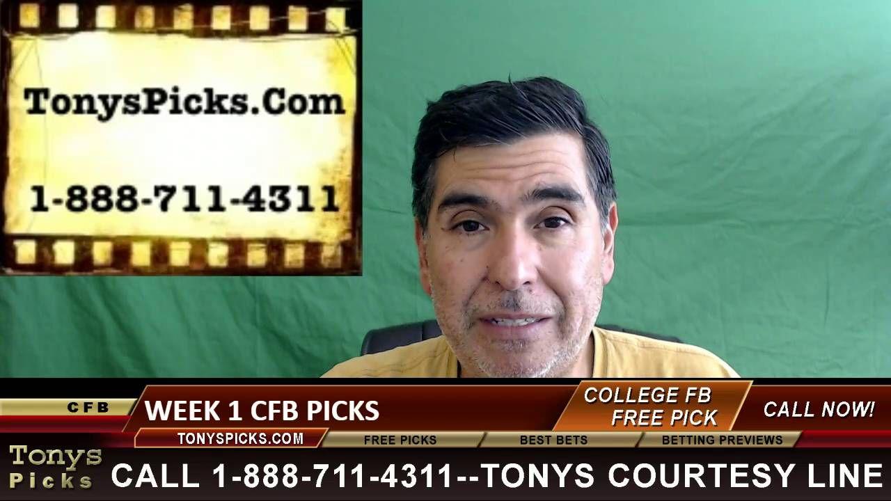 Friday college football free picks week 1 odds tv games 9