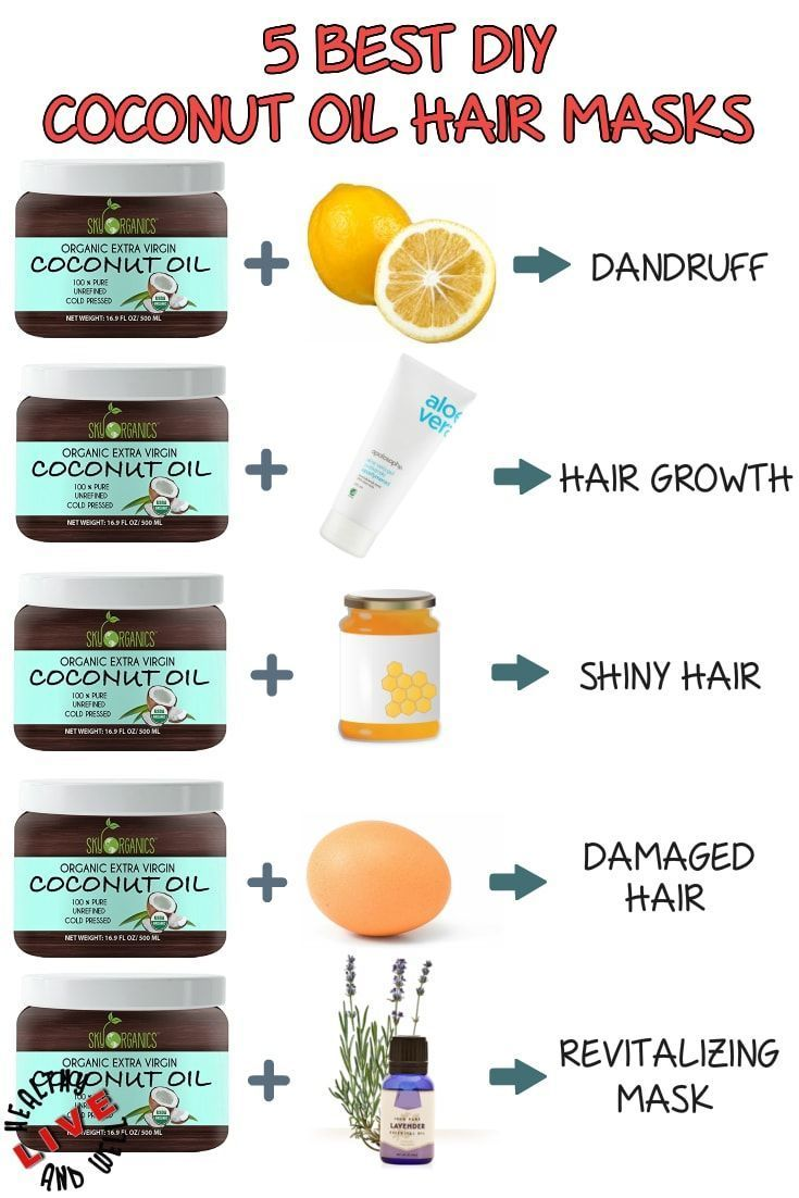 Top Best DIY Coconut Oil Hair Masks for Every Hair Trouble #hairstuff