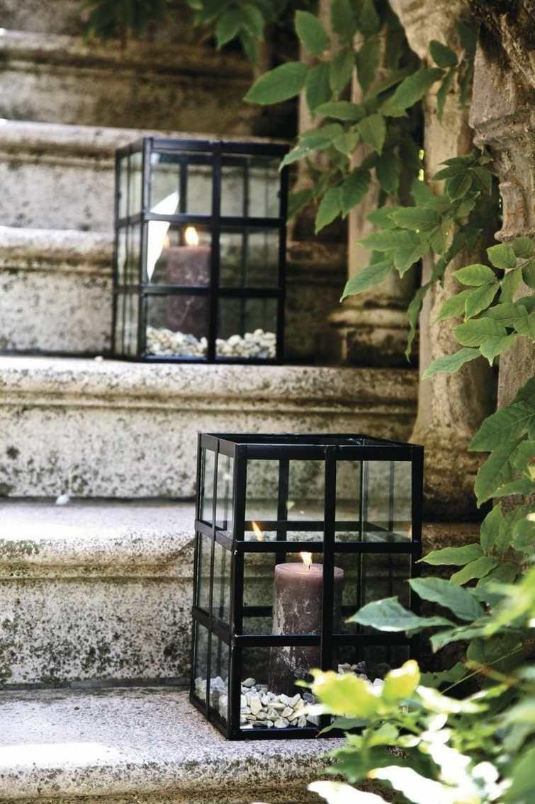 dco descalier extrieur avec des lanternes - Lanterne De Jardin