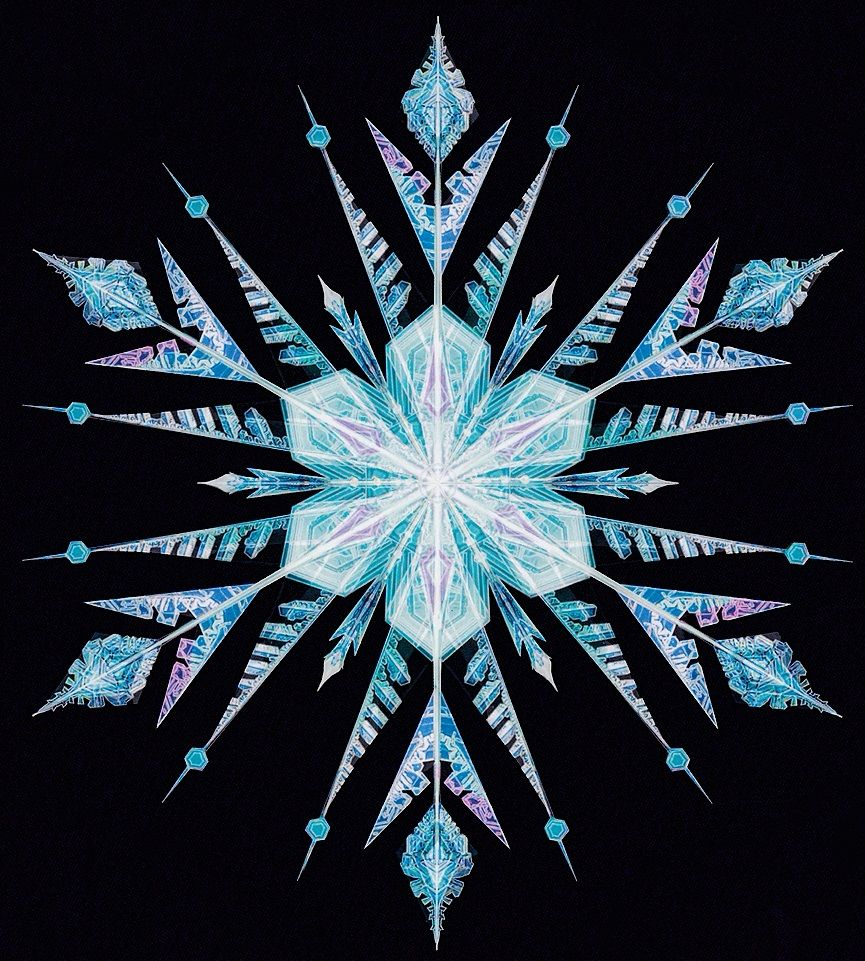 how to draw a snowflake from frozen