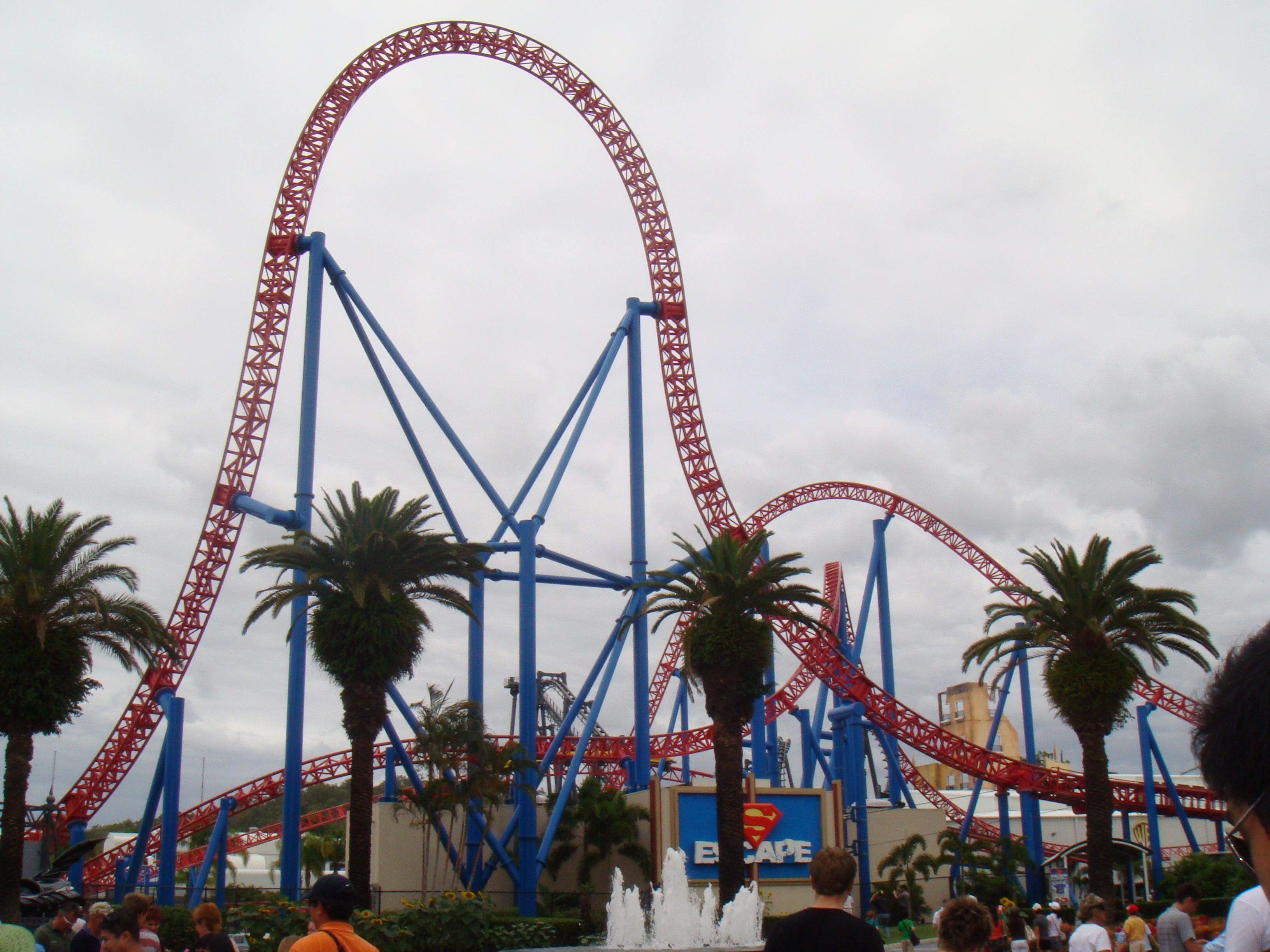 Superman Ride At Movie World Gold Coast Australia Down The Memory