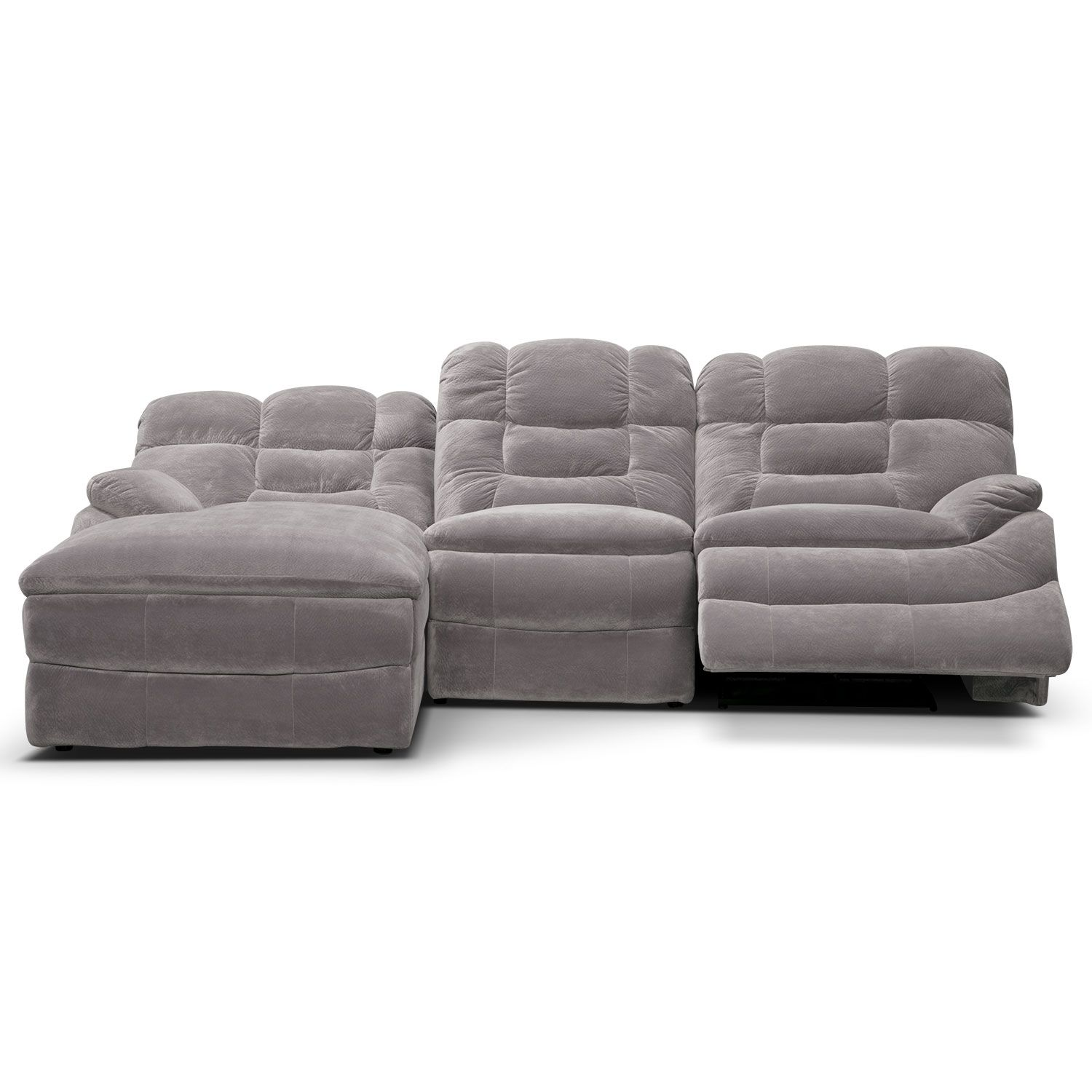Groovy Big Softie 3 Piece Power Reclining Sectional With Chaise Onthecornerstone Fun Painted Chair Ideas Images Onthecornerstoneorg