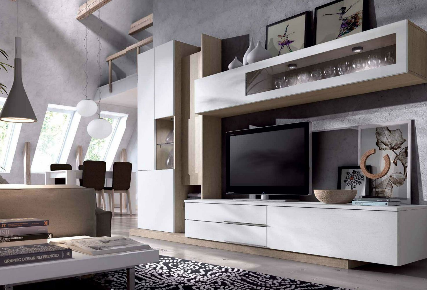 22 Best Salones Images On Pinterest Tv Wall Units Tv Walls And  # Muebles Zb Zaragoza