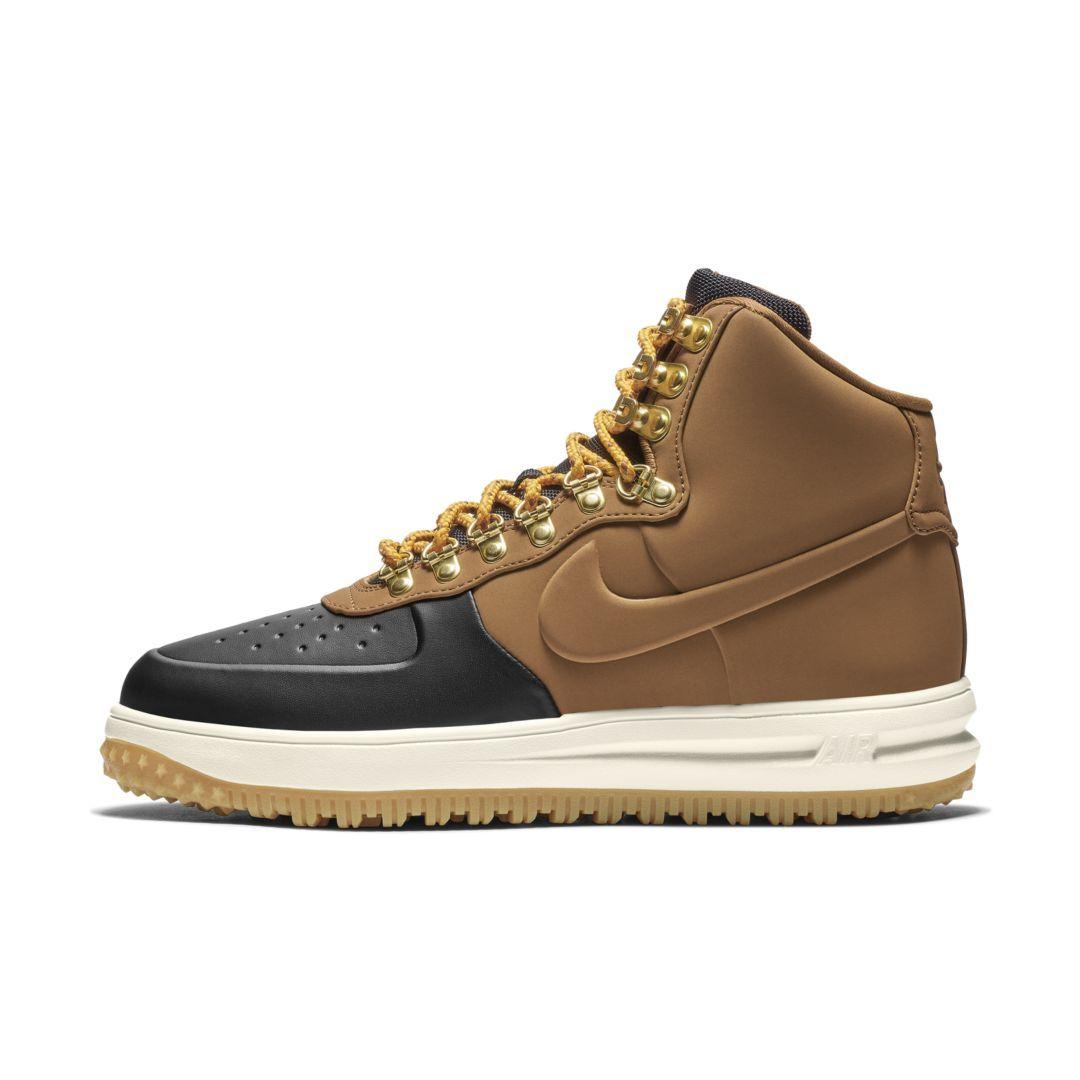 Nike Lunar Force 1 Herren Schuhe Entenstiefel Low Brown in