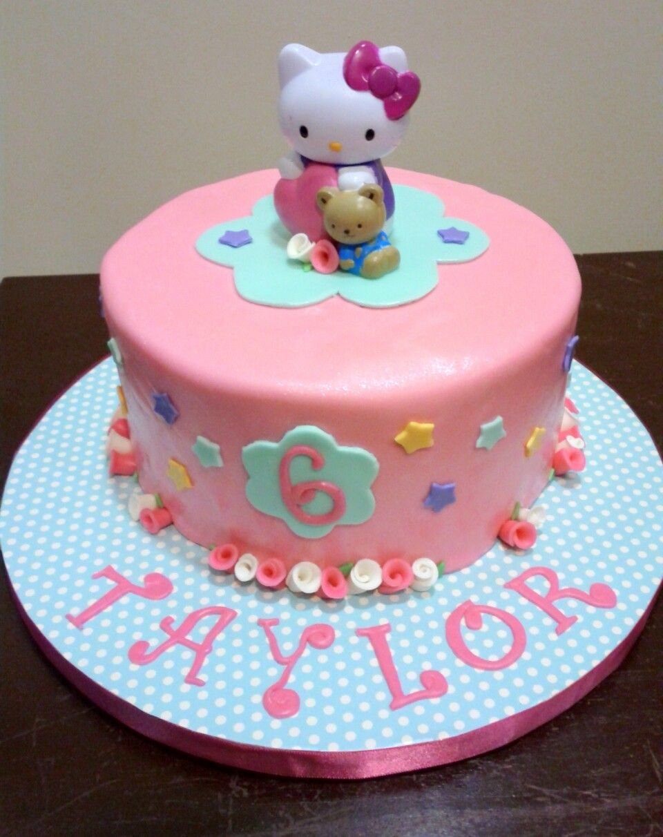 Simple Hello Kitty Fondant Cake Cakes and Stuff Ive Made