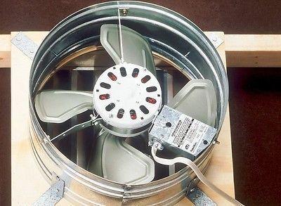 Bonanza Attic Fan Ventilator Vent Roof Power Gable Mount
