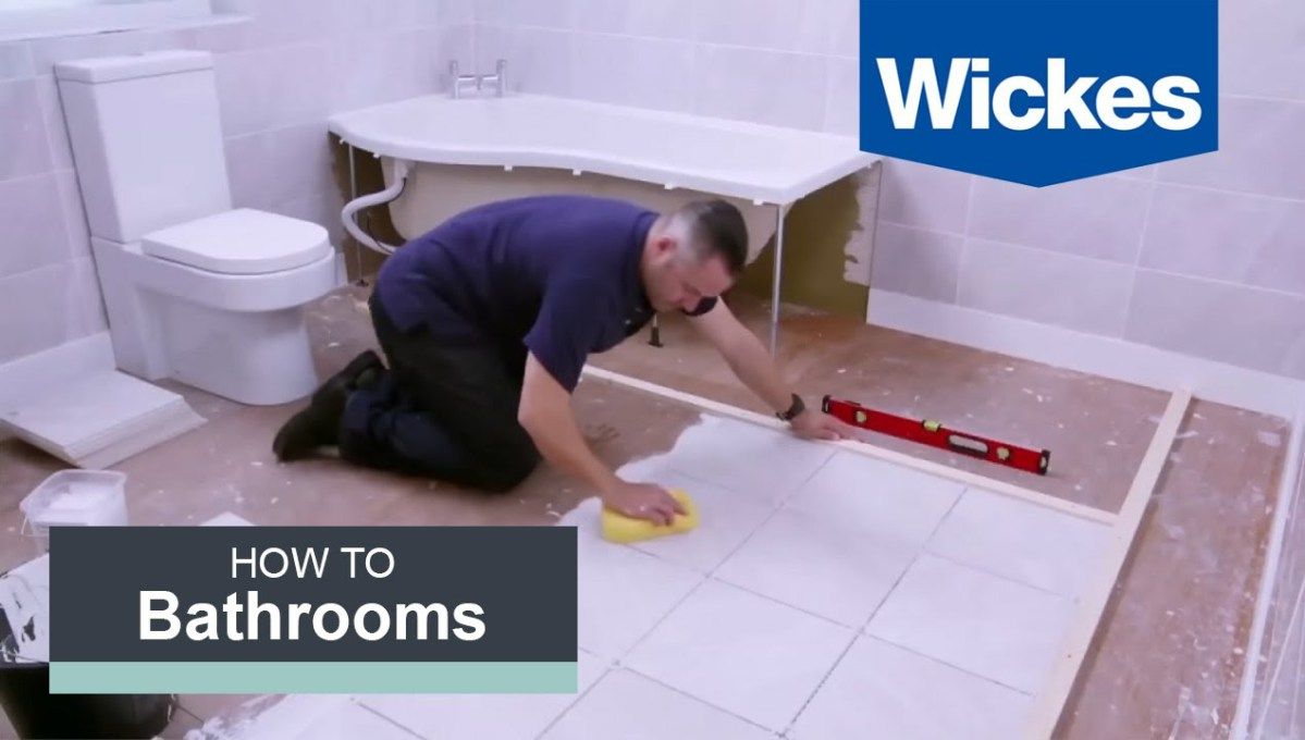 How to tile a bathroom floor with wickes tools for home in this step by step video youll learn how to tile a bathroom floor from measuring and marking out the floor evenly spacing your tiles and ensuring dailygadgetfo Choice Image